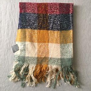 RARE ❤️🔥 ZARA Large Multicolored Blanket Scarf